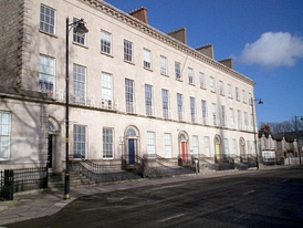 Former houses on Charlemont Place, beside The Mall, now occupied by Education Authority (Southern)