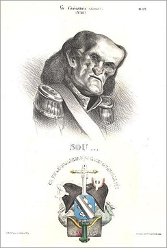 Caricature of the Duke of Dalmatia by Honoré Daumier, 1832