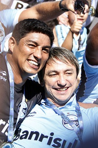 Jardel and Paulo Nunes lead Grêmio to reach practically all trophies of the 1990's. Together they won the 1995 Copa Libertadores and the 1996 Recopa Sudamericana