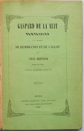 Cover of the first edition of Gaspard de la nuit.