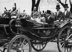 King George VI and Queen Elizabeth visit the King's Plate in Toronto, during the 1939 royal tour.
