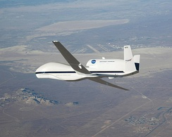 A NASA Global Hawk in flight