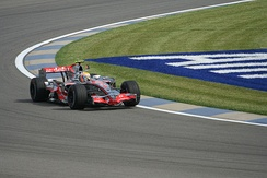 Lewis Hamilton on his way to pole position