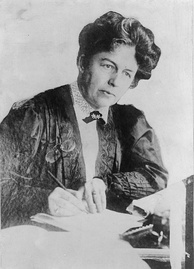 Harriot Eaton Stanton Blatch, daughter of US suffragist Elizabeth Cady Stanton, became friends with Pankhurst through their work in the Women's Franchise League.
