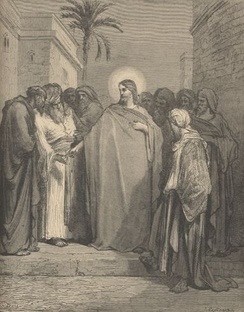 Gustave Doré: Dispute between Jesus and the Pharisees