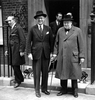 Churchill with US ambassador Joseph Kennedy in 1939.