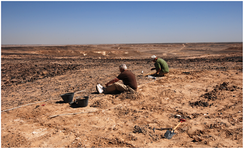 Archaeologists excavating a Middle Stone Age complex in the Dhofar Mountains.