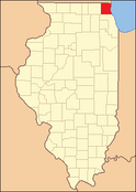 Lake County at the time of its creation in 1839