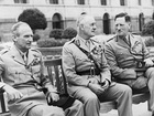 General Claude Auchinleck (right), Commander-in-Chief of the Indian Army, with the then Viceroy Wavell (centre) and General Montgomery (left)