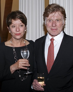 Redford and Sibylle Szaggars Redford at U.S. Embassy, London, 2012