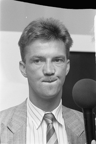 Van Gaal in 1988 as assistant manager with Ajax.