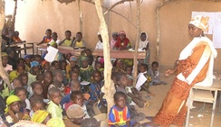 A primary classroom in Niger.