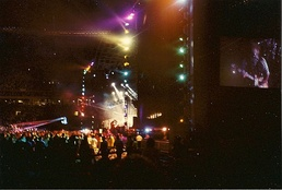 Outdoor stage and show, 14 July 1990 at Philadelphia's Veterans Stadium