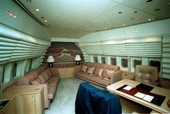 The President and First Lady's private quarters. The couches can fold out into beds.