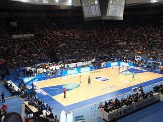 A EuroLeague game in Madrid, in 2009.