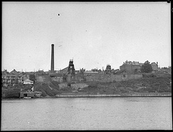 Balmain Coal Mine in New South Wales in 1950. Photograph taken by Sam Hood for LJ Hooker, State Library of New South Wales, 31753