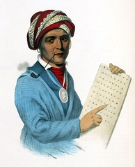 Sequoyah, the inventor of the Cherokee syllabary