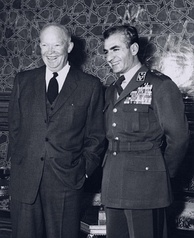 Eisenhower with the Shah of Iran, Mohammad Reza Pahlavi (1959)
