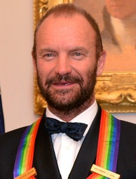 Sting with his 2014 Kennedy Center Honoree Medallion, on 6 December 2014