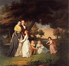 James Peale, The Artist and His Family, 1795. Pennsylvania Academy of Fine Arts