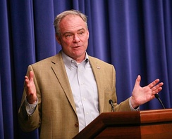 Kaine speaking in 2016