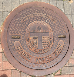 Manhole cover from Tulsa