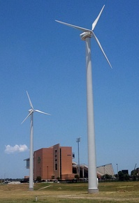 Wind Turbines at Apogee Stadium