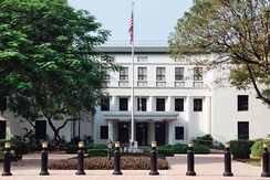 The US Embassy in Manila.