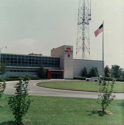 WRC-TV's studio/transmitter facility, which also houses NBC's Washington operations, have been in use since 1958. (1962 photograph)