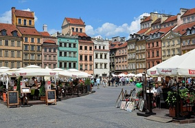 Main Market Square in Warsaw's Old Town, a UNESCO World Heritage Site
