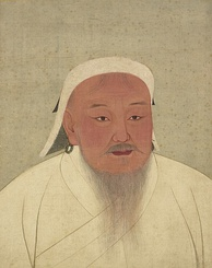 The Mongols, under Genghis Khan (pictured), conquered Central Asia in the early thirteenth century.