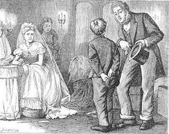 Pip is ashamed of Joe at Satis House, by F. A. Fraser
