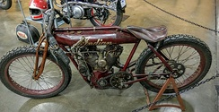1912 Indian Board Track Racer, on display at the California Automobile Museum