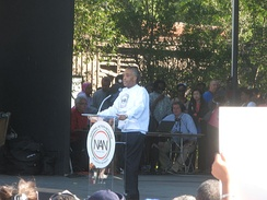 Sharpton at the October 15, 2011, National Action Network American Jobs Act march