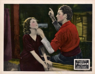 Lobby card with Janet Gaynor and Charles Farrell