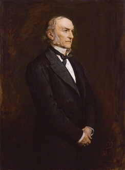 Gladstone in 1879, painted by John Everett Millais.