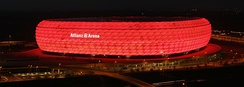 The Allianz Arena, one of the world's most famous football stadiums