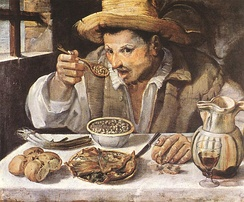 The Beaneater (1580–90) by Annibale Carracci