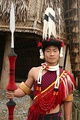 Naga man dressed in traditional attire from Nagaland