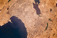 View of Baku taken from the International Space Station