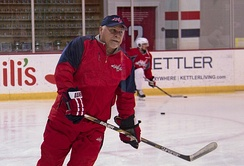 Barry Trotz at the Capitals practice at Kettler Capitals Iceplex. Trotz guided the Capitals to their first Stanley Cup championship.