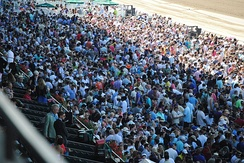 The crowd packs the facility when a Triple Crown is on the line