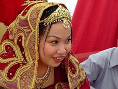 A young bride at her Nikah.