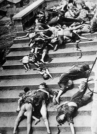 Chinese casualties of a mass panic during a June 1941 Japanese aerial bombing of Chongqing