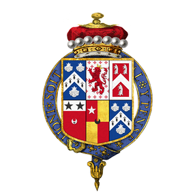 Quartered arms of Charles Townshend, 2nd Viscount Townshend, KG, PC, FRS