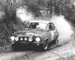 Bond and Shepheard in the Holden Dealer Team Torana GTR XU-1 on their way to another win in the Warana Rally, round four of the 1972 Australian Rally Championship.