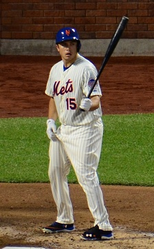 d'Arnaud batting for the New York Mets in 2013