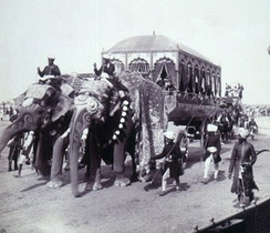 Elephant Carriage of the Maharaja of Rewa, Delhi Durbar of 1903