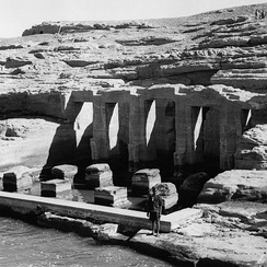 Temple of Derr ruins in 1960