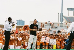 Desmond Howard (left) on the set of ESPN's College GameDay in Austin, Texas